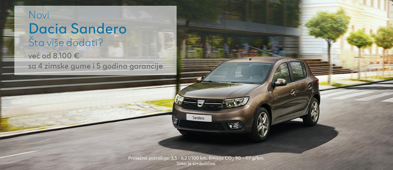 Dacia SANDERO - primer proračuna